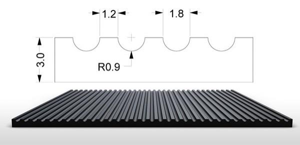 Pryžové koberce-S5-výkres