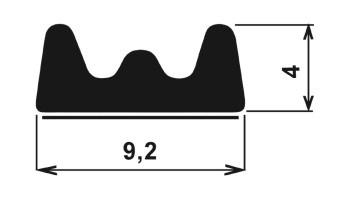 Samolepící profil TF-rozměry