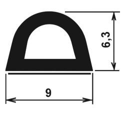 Samolepící profil-pralinka-rozměry