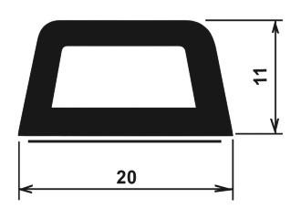Samolepící profil-vlečky-rozměry