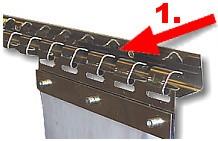 Vinylport-nosný profil s háčky