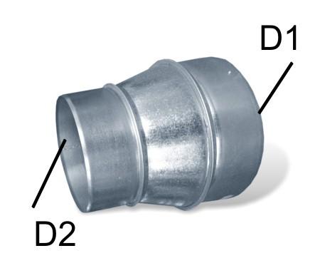 redukce pro hliníkové potrubí