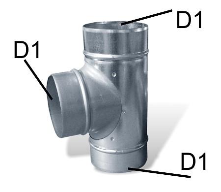 odbočka pro hliníkové potrubí