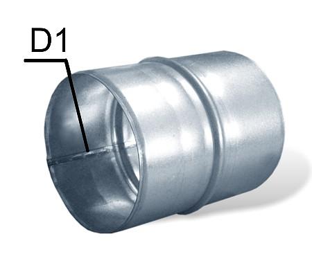 spojka pro hliníkové odsávací potrubí